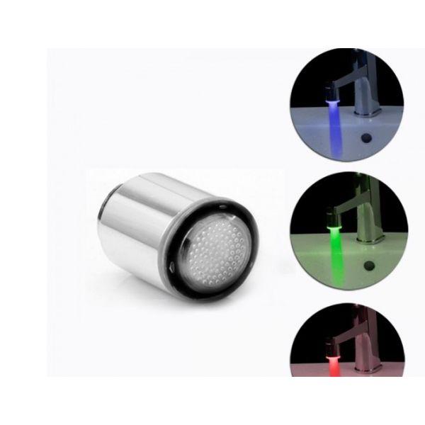 robinet cu led colorat si filtru