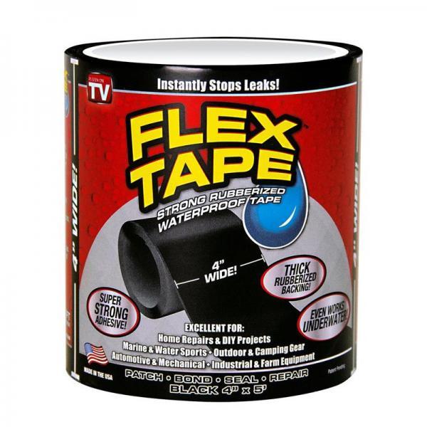 Banda adeziva foarte puternica, Flex Tape, lipeste si repara orice material, chiar si sub apa
