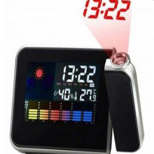 Ceas digital cu ecran color, proiecteaza ora pe tavan, indica temperatura, umiditatea si data