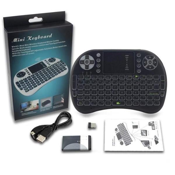 Mini tastatura Wireless portabila, cu mouse touchpad integrat si