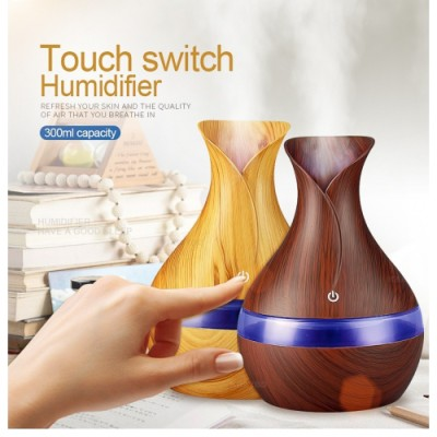 Difuzor aromaterapie, Umidificator cu led 7 culori, tip vaza , 3