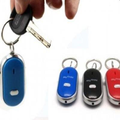 Breloc cu fluier si led  pentru gasirea cheilor - whistle key finder