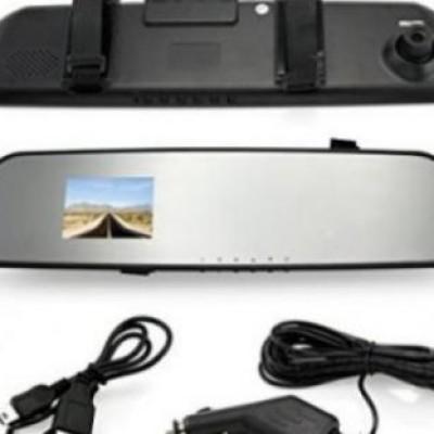 Oglinda retrovizoare cu camera foto/video HD, senzor de miscare, martor in trafic