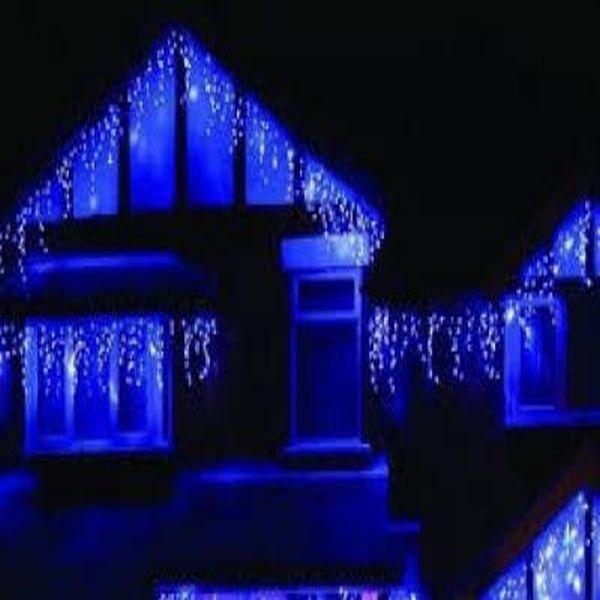 Lumina magica de Craciun cu instalatia led cu franjuri 8m , de exterior, multicolora, lungime 8m