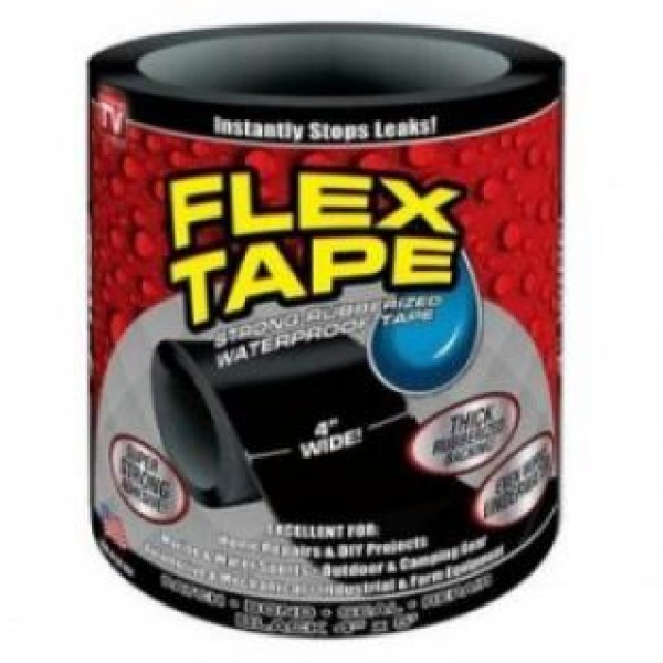 Banda adeziva foarte puternica, Flex Tape, lipeste si repara orice matarial, chiar si sub apa
