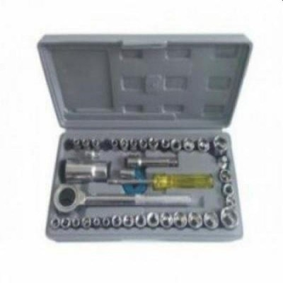Trusa 40 chei tubulare, cu clichet, cu maner si adaptor + cutie depozitare