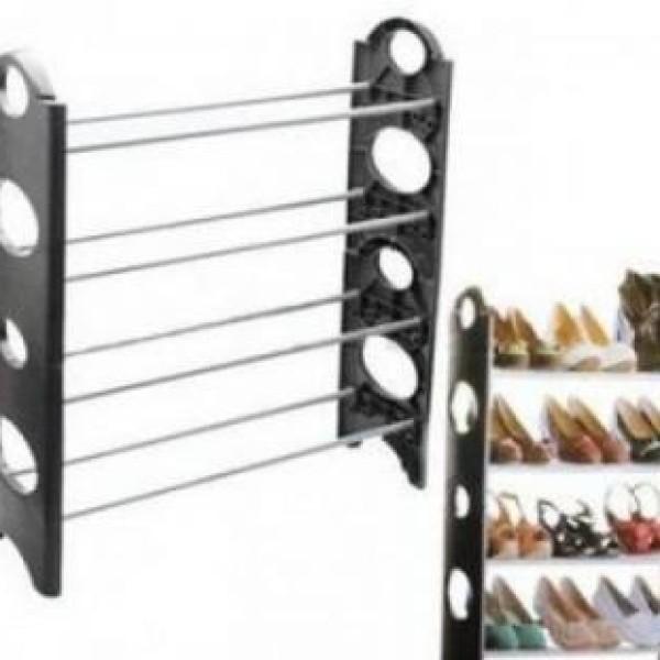 Suport de pantofi pentru 12 perechi, stil etajera, stabila si usor de montat
