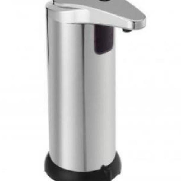Dispenser cu senzor pentru sapun lichid sau detergent, din metal nichelat