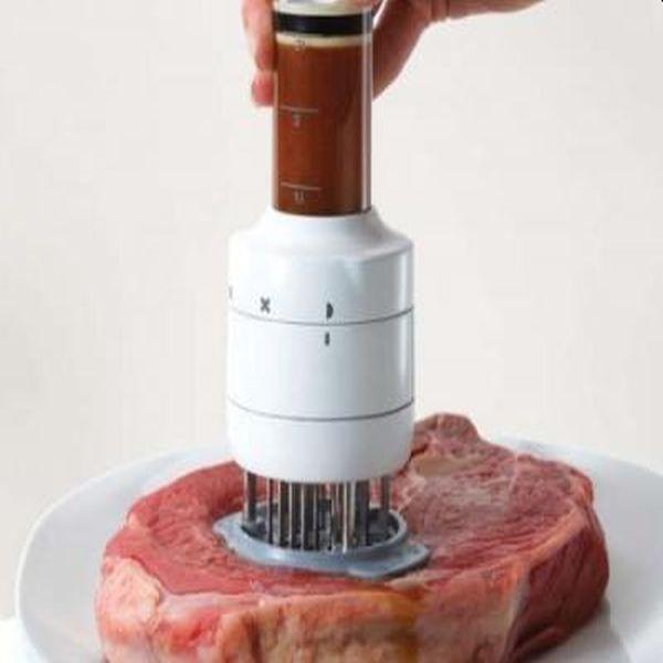 Aparat de fragezit carnea cu infuzor de sos pentru ca savoarea sa ramana in friptura