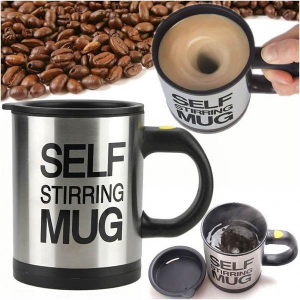 Cana cu amestecare automata Self Stirring Mug