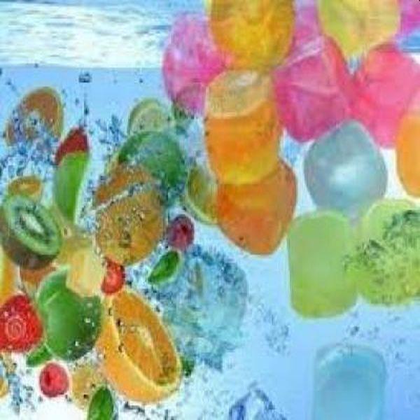 Set de 12 cuburi de gheata colorata, refolosibile, pentru o petrecere de neuitat