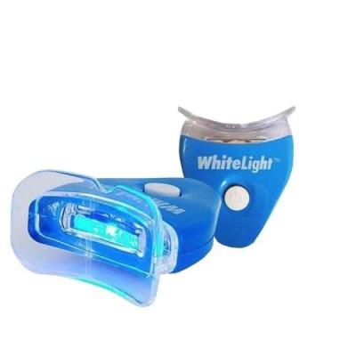Albirea dintilor acasa cu White Light kit, tratament cu lumina si gel de albire
