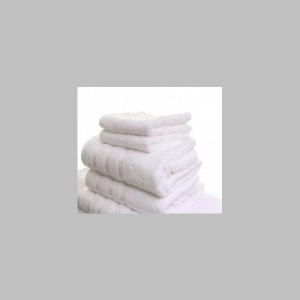 Prosoape albe, tip hotel, bumbac Pakistan gros si absorbant, set 4 bucati