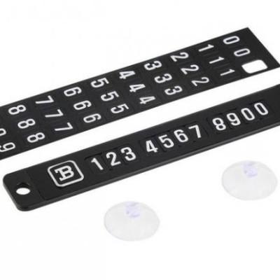 Tablita magnetica de parbriz pentru numarul de telefon in parcare
