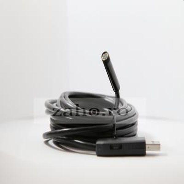 Endoscop cu cablu 5m, USB, led reglabil si focus la 4 cm