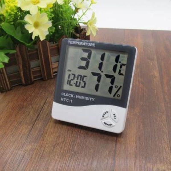 Ceas digital de birou cu termometru si senzor umiditate