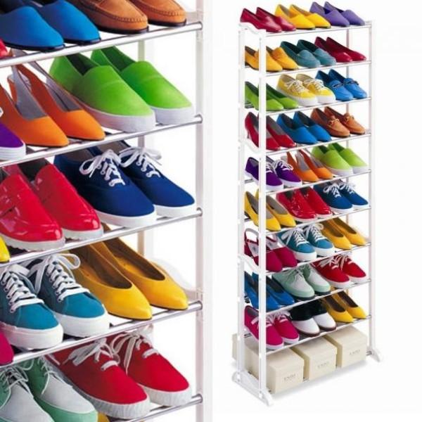 Suport de pantofi, inalt, pentru 30 de perechi