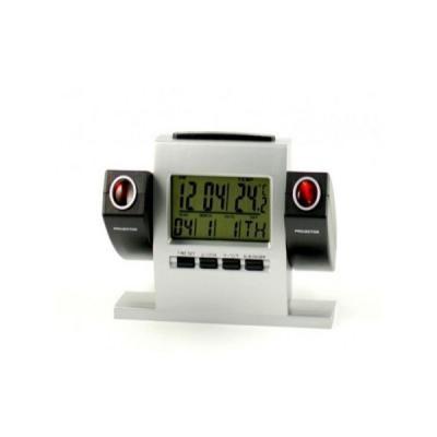 Ceas electronic de birou cu dubla proiectie pe perete