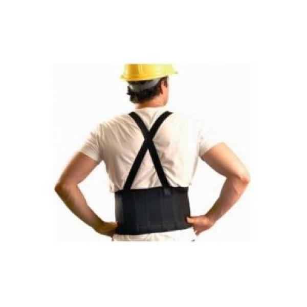 Centura lombara de lucru, reglabila, cu bretele, protejeaza spatele
