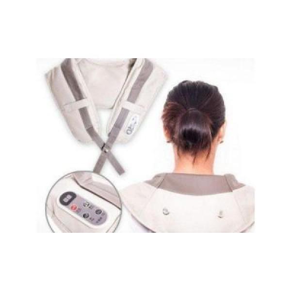 Centura pentru masaj cervical cu tapotament si vibratii cu intensitate diferita