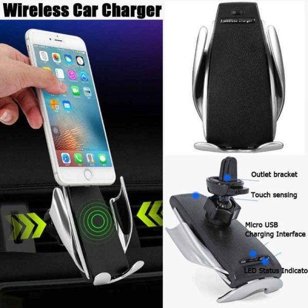 Incarcator auto FAST CHARGE wireless cu sistem de prindere cu senzor