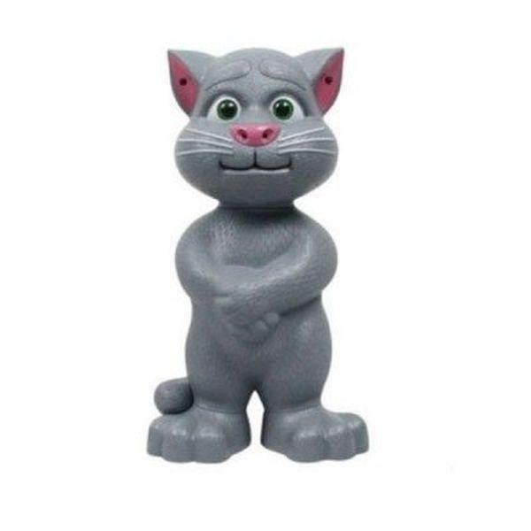 Jucarie interactiva- pisica inteligenta, vorbeste, toarce si rade  28cm