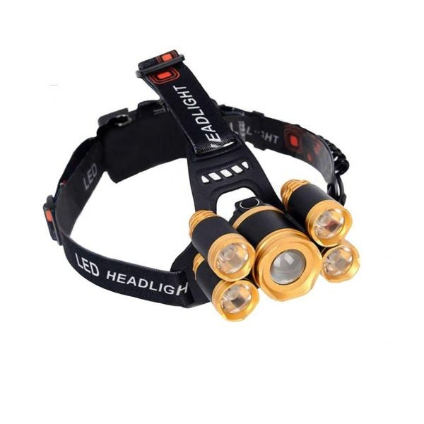 Lanterna MRG 5, cu 5 LED Cree, zoom, waterproof