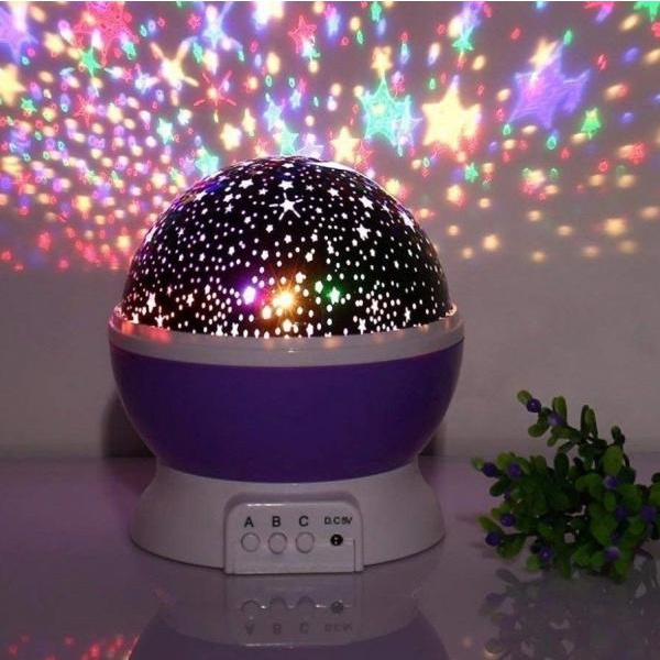 Lampa de veghe cu stele si luna, rotatie la 360 de grade