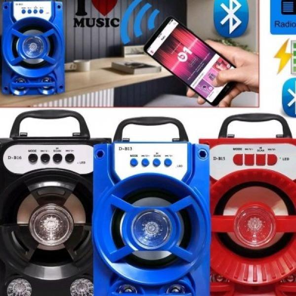 Boxa portabila bluetooth,disco, cu lumini, USB, card si radio