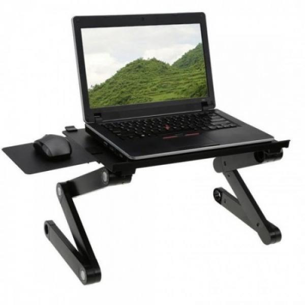 Masa laptop multifunctionala , reglabila, 2 ventilatoare