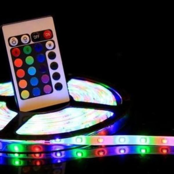 Banda 300 LED RGB de 5 m, cu telecomanda