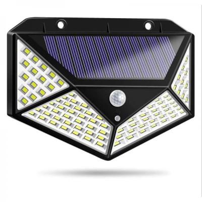 Lampa solara 100 LED cu senzor de miscare