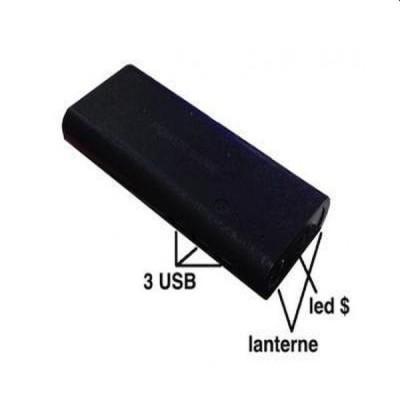 Baterie externa 20.000 mah, 3 USB si LED