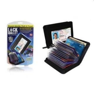 Portofel carduri Lock wallet cu sistem anti scanare, pentru protectie impotriva hotilor