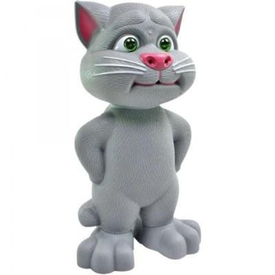 Jucarie interactiva - pisica vorbeste, toarce si rade cu tine, 20 cm
