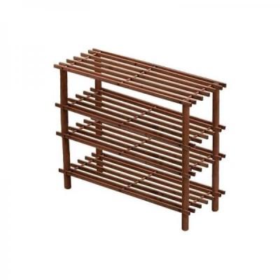 Suport pentru incaltaminte din lemn, cu 4 etajere