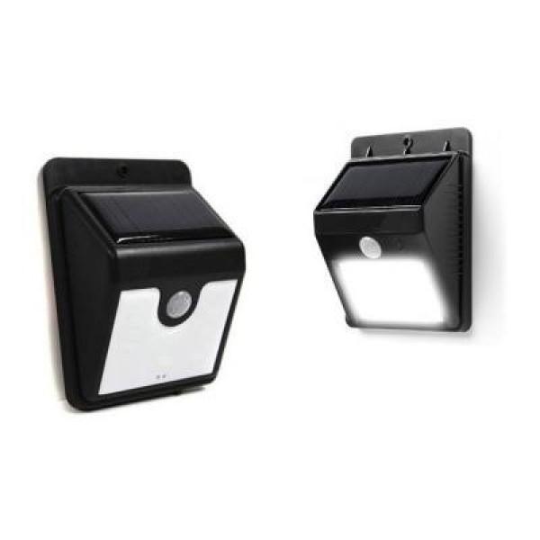 Lampa Led solara cu senzor de miscare si lumina, 20 de led-uri, ideala pentru noapte