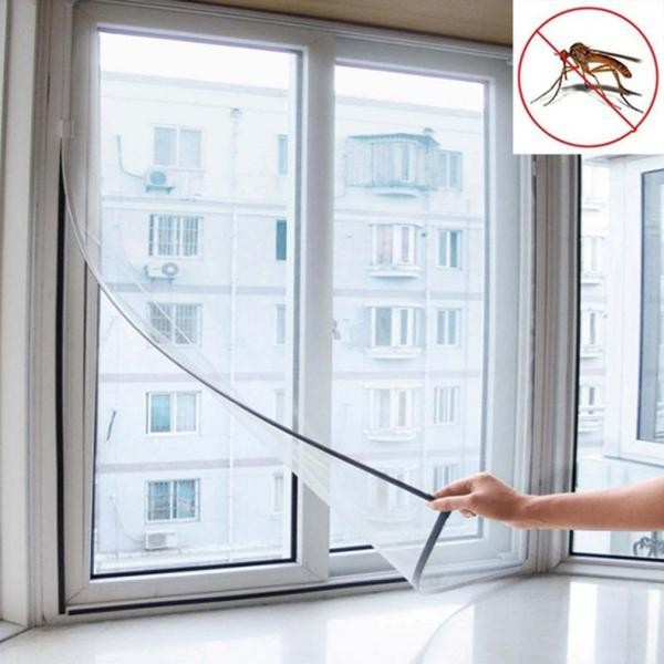 2 x Perdea adeziva anti tantari pentru fereastra