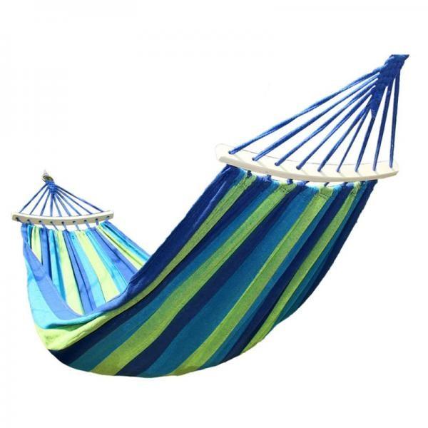 Hamac cu bara de lemn - ideal pentru relaxare