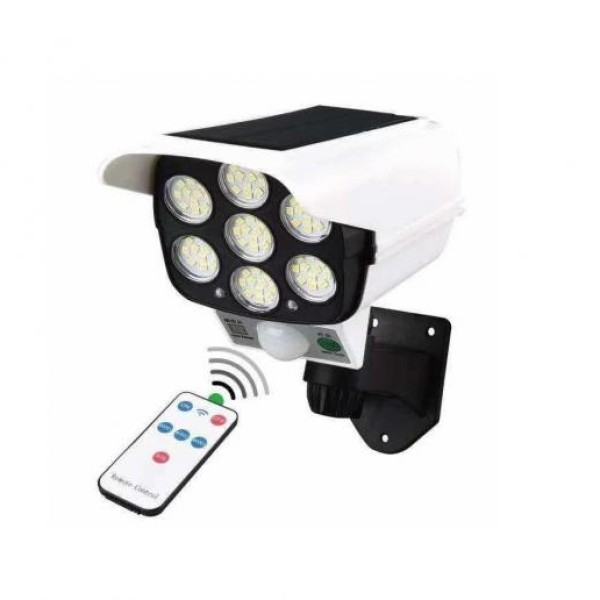 Lampa solara cu LED in forma de camera video