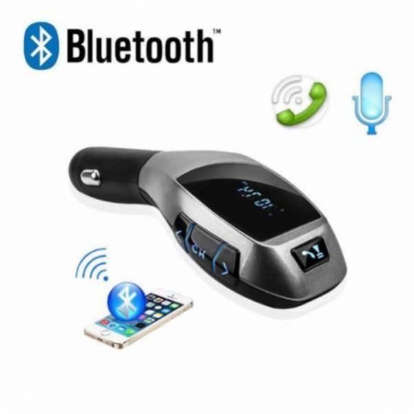 Car Kit Auto Bluetooth cu functie de modulator FM, model X6