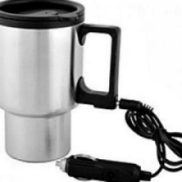 Cana termos auto pentru cafea si ceai, cu capac, pentru bricheta masinii